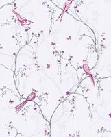 Graham and Brown Songbird Lilac 101842 Wallpaper